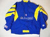 XL LA RAMS STL Vintage Pro Line OG Blue NFL Starter Jacket Pullover Super Bowl