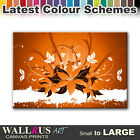 Abstract Flowers FLORAL Canvas Print Framed Photo Picture Wall Artwork WA