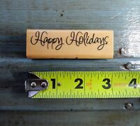 """""""Happy Holidays"""" Rubber Stamp by Recollections"""