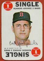 1968 Topps Game #3 Carl Yastrzemski VG-VGEX Wrinkle Boston Red Sox FREE SHIPPING