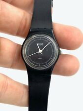 Swatch Standard watch Ladies black - tested and working