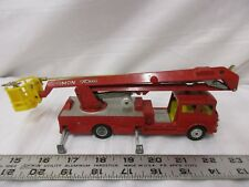 Corgi Major toys Simon snorkel fire engine Made in Britain red yellow bucket