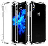 iPhone 6 8 7 Plus X Case Soft Silicone Clear Transparent Slim Gel TPU Rubber