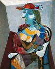 Seated Woman MARIE THERESE  Hand Painted Cubist Pablo Picasso Oil Painting Art