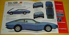 1975 Bitter CD 327 ci 230 hp (Chevrolet V8) Germany IMP info/Specs/Photo 15x9