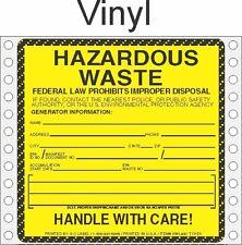 Hazardous Waste Vinyl Labels HWL400 VINYL (PACK OF 500)