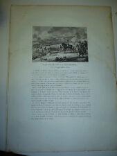 GRAVURE 1820  BATAILLE DE LA MOSKOVA 7 SEPTEMBRE 1812