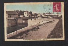 VERDUN-sur-le-DOUBS (71) ECLUSE animée en1934
