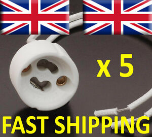 5x GU10 Lamp Holder Mains Base Connector Downlighter Fitting UK supplier bulb UK