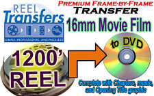 Transfer 16mm film to DVD- Silent or Sound  (price per 1200 ft)