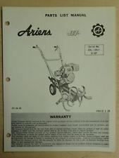 ARIENS JET TILLER SN#. 23L - 12511 & UP PARTS MANUAL STJ 66