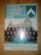 1997/8 North Ferriby Unidos V Morpeth Ciudad-fac