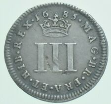 More details for 1685 james ii maundy threepence, british silver coin gvf