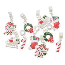 Wholesale Lots Mixed Christmas Dangle Beads Fit Charm Bracelet Xmas ##