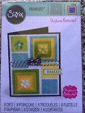 Sizzix Framelits Dies Dotted Squares by Stephanie Barnard 8 Dies 561841 New!