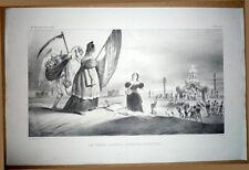 Grandville - Desperet. Lithographie. La Caricature 1834. Marianne, perroquet