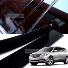 Glossy Black B C Pillar Post UV Coating Cover Trim 8Pcs For BUICK 08-16 Enclave