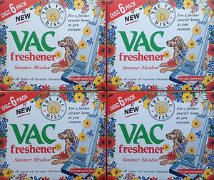 24 x VAC VACUUM Freshener Discs Extra Strength For Pet Lovers SUMMER Meadow New