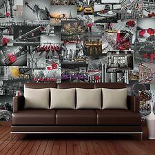 Creative Collage City Scapes Designer Murale - 64 pièces Papier Peint Décoration