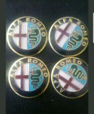 4x Stickers Metal Caps 56mm 3D ALFA ROMEO Centre Hub Wheel Cap Emblem Sticker