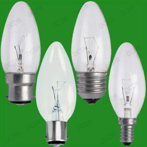 25x Clear Candle Dimmable Standard Light Bulbs 25W 40W 60W BC ES SBC SES Lamps