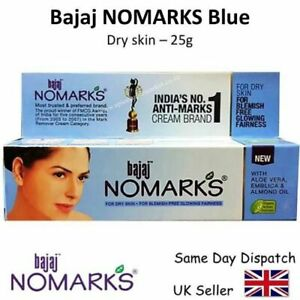 BAJAJ NO MARKS BLUE CREAM for DRY SKIN - acne,blemishes ,face ,herbal 25g