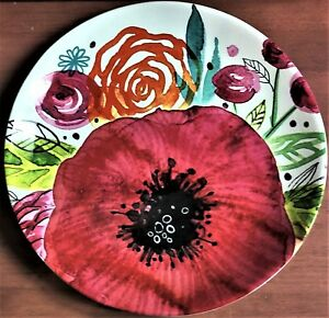 "NWT  ""Poppy"" Platter by Jennifer Wambach, 13"" Diameter"
