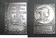 plaque argent Gallia cours moniteurs Magdelaine sté gymnastique seine