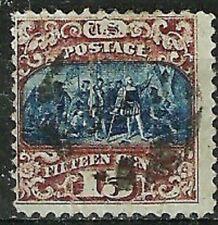 CHOICE U.S.1869 Pictorial #119 15c Columbus w Lite Cancel WYSIWYG Lot NoRes