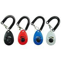 Dog Training Clicker with Elastic Wrist Strap Train Cat Bird Chicken Pack of 4