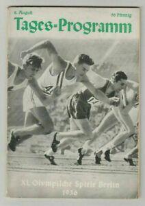 Orig.PRG  Olympische Spiele BERLIN 1936  -  02.08./ mit 4 Final`s  !!  RARITÄT