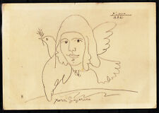 1961 Pablo Picasso actually traveled a postal card  France to Bulgaria.