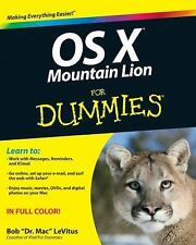 OS X Mountain Lion For Dummies, LeVitus, Bob, Good Condition, Book