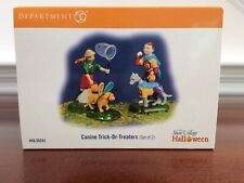 Dept 56 Halloween *New* Canine Trick-Or-Treaters - Set Of 2