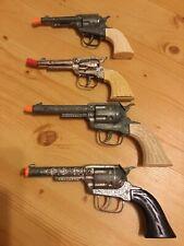 Vintage Pony Boy Cap Guns (4) Lot Small & Large