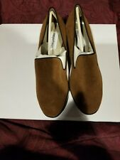 New Brown Newport News Suede Shoes low heels.  Size 8M.