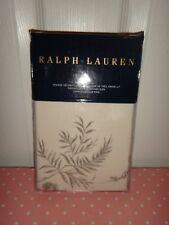 "RALPH LAUREN Ainslie King Sham Pillowcase Floral Cream Grey 100% COTTON 20""x 36"""