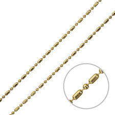 Gold Plated Ball And Bar Necklace Chain With Connector Clasp 1 Metre (G93/17)