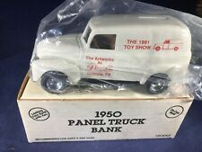 T1-48 ERTL 1:38 SCALE DIE CAST BANK - 1950 PANEL TRUCK - NIB - 1991 TOY SHOW