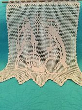 Handmade Filet Crochet Nativity Christmas Wall Hanging