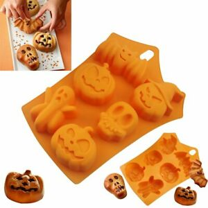 Halloween 3D Silicone Chocolate Cake Mould Pumpkin Skull Jelly Mold Baking LN