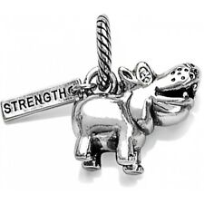 NEW Brighton HIPPI Hippopotamus STRENGTH Silver Swarovski Crystals Charm RETIRED