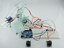 [Sintron] Mini Industrial Robotic Arm Kit DIY Robot Toy + Servos Joystick UNO R3