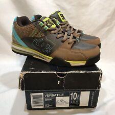 NIce DC VERSATILE 300243 Brown/Blue Skate Shoes Mens 10.5 DK Choco Otter Box