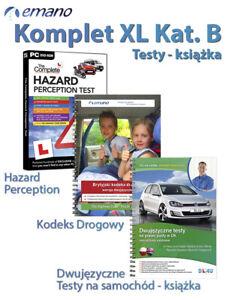 Testy na prawo jazdy w UK Samochody Osobowe Kat. B KOMPLET XL 2021 Books&DVD