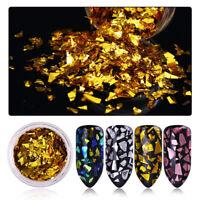 Nail Art Sequins Round Flakes Mixed Size Colorful Shining Nail Design Decors