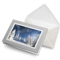 Greetings Card (Grey) - Awesome Snow Scene Winter Skiing  #8594