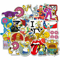100pcs Simpsons Skateboard Stickers Vinyl Laptop Luggage Decals Dope Sticker Lot