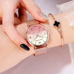 Relogio Feminino Hannah Martin Fashion Rose Gold Wristwatch for Women Luxury Gen