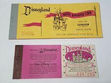 *MINT* 1970 DISNEYLAND JUNIOR and 1980 TICKET Book COMPLETE Admission Disney